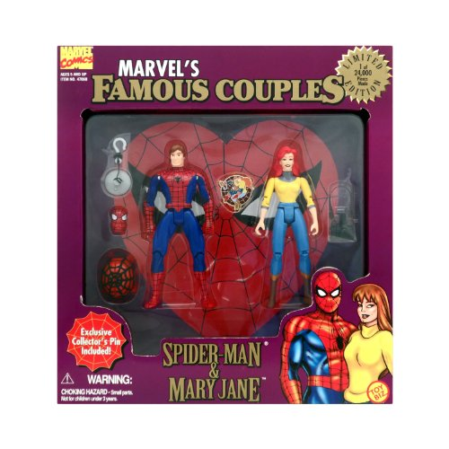 Marvel Famous Couples: Spiderman & Mary Jane (Man Spider Jane Mary)