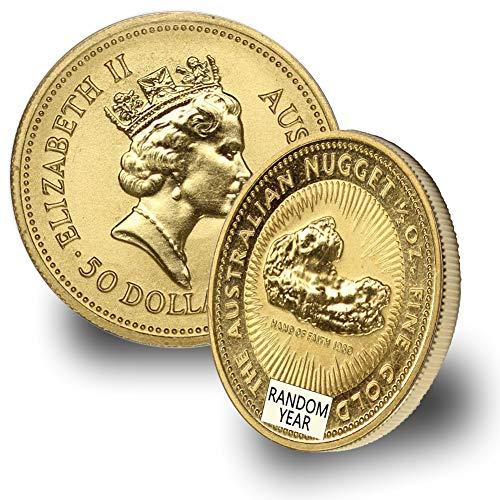 1987 - Present Australia Gold Kangaroo/Nugget (Random Year) 1/2oz .9999 Brilliant Uncirculated