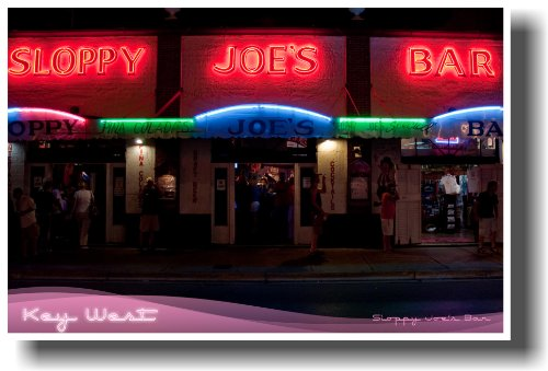 (Sloppy Joe's Bar - Key West Florida - Travel Poster)