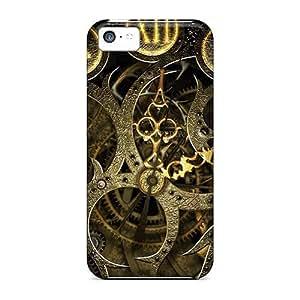 MMZ DIY PHONE CASEFor iphone 5/5s Tpu Phone Case Cover(mechanical Clock)