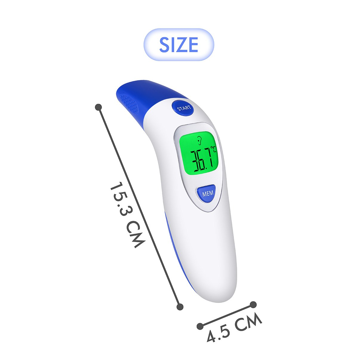 Digital Forehead Ear Thermometer Fever Alarm Infrared Baby Kids Body Temp Adult