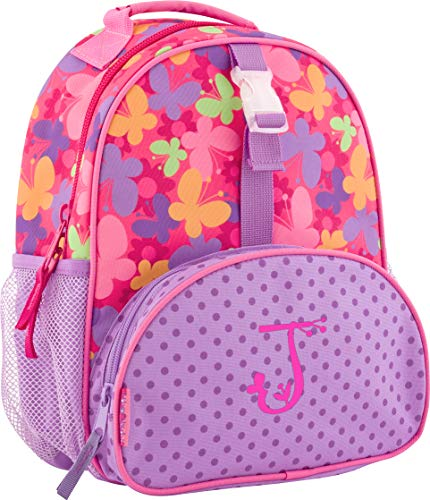 Backpack Garden Butterfly - Monogrammed Me All Over Print Mini Backpack, Purple Butterfly, with Garden Monogram J