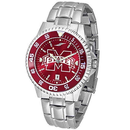 (Mississippi State Bulldogs Competitor Steel AnoChrome Color Bezel Men's Watch)