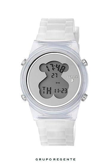 Reloj TOUS D-Bear Fresh de policarbonato con correa de silicona blanca: Amazon.es: Relojes