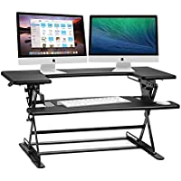 Halter Pre assembled Height Desk Sit / Stand Elevating Desktop
