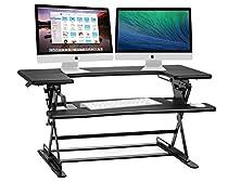 Halter ED-600 Preassembled Height Adjustable Desk Sit / Stand Elevating Desktop - Black