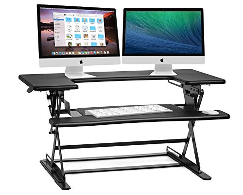Halter ED-600 Preassembled Height Adjustable Desk Sit / Stand Elevating Desktop - Black by Halter