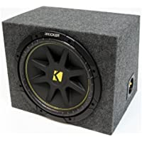 ASC Package Single 12 Kicker Sub Box Sealed Rearfire Subwoofer Enclosure C12 Comp 300 Watts Peak