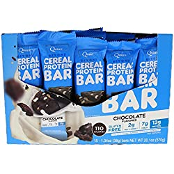 Quest Nutrition Beyond Cereal Protein Bar, Chocolate Flavor, 12g Protein, 2g Net Carbs, 110 Cals, 1.34oz Bar, 15 Count, Breakfast Bars, Low Carbs Bars, Gluten Free, Soy Free