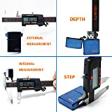 UBANTE Quality Electronic Digital Caliper Inch/Metric/Fractions Conversion 0-6 Inch/150 mm Stainless Steel Body Orange/Black Extra Large LCD Screen Auto Off Featured Measuring Tool