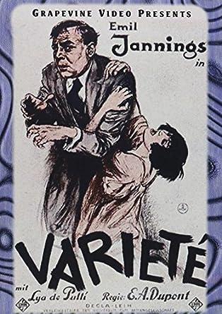 Variety (Varieté) (1925) by Emil Jannings: Amazon.it: Emil Jannings, Lya  De Putti, Warwick Ward, E. A. Dupont: Film e TV