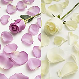 Farm Fresh Natural White - Lavender Rose Petals - 3000 petals