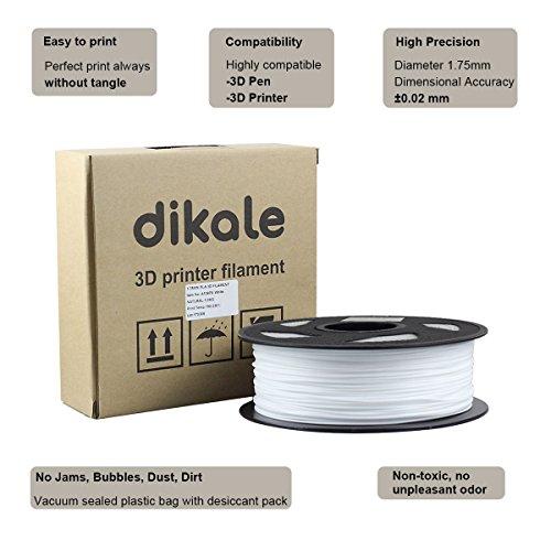 Dikale-PLA-3D-Printer-Filament-1KG335m1099ft-175mm-Dimensional-Accuracy-002-mm-1KG-Spool-175-mm