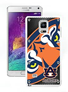 Southeastern Conference SEC Football Auburn Tigers 4 White Case for Samsung Note 4,Prefectly fit and directly access all the features