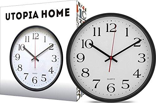 Large-Wall-Clock-Silent-Non-Ticking-Modern-Quartz-Design-Decorative-12-Inch-Black-Clock-by-Utopia-Home