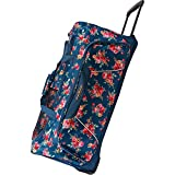 Pacific Coast Signature Women's 32' Large Rolling Duffel Bag, Rose Garden Navy One Size