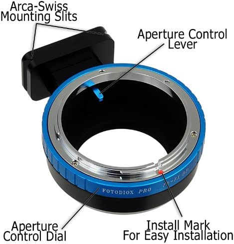 Fotodiox Pro Lens Mount Adapter X-Mount for Fuijifilm X-Pro1 Canon FD Lens to Fujifilm X X-E1 with Arca-Swiss Tripod Mounting Slits FD /& FL Camera Body