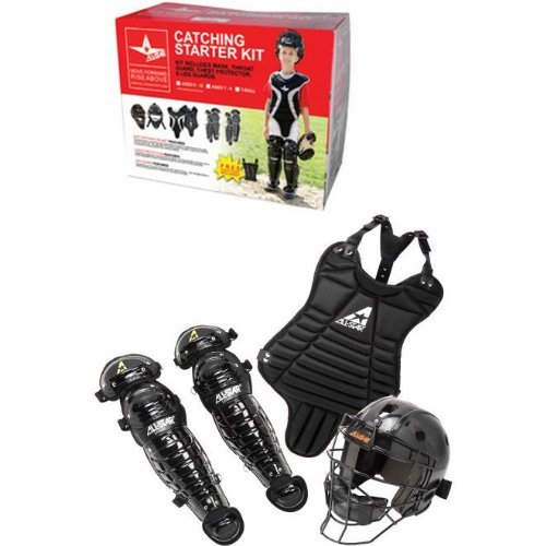 Ages 5-7 T-Ball/Coach Pitch Catching Starter Kit (Chest Protector, Shin Guards & Catcher's Mask with Throat Guard) ()