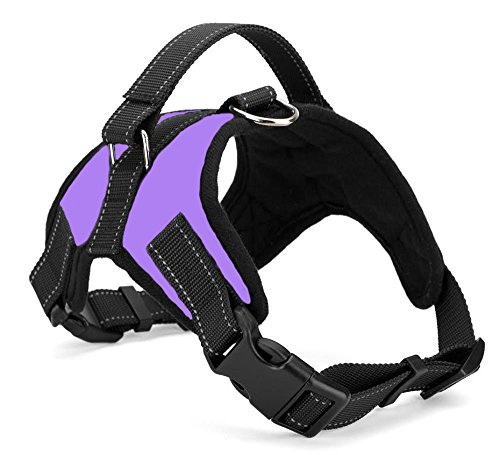 Xanday No Pull Dog Vest Harness, Reflective Dog Body Padded Vest with Handle, Adjustable Dog Walking Harness Comfort Control for Small Medium Large Dogs (XS, Purple)