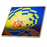3dRose Danita Delimont - Hot Air Balloons - USA, Massachusetts, Hudson, Ballon Festival, hot air balloon interior - 6 Inch Glass Tile (ct_259456_6)