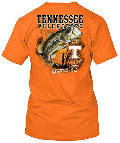 NCAA - Bass Fishing T Shirt - Multiple Universities Available - up to 2X and 3X - Officially Licensed Apparel (Tennessee Volunteers, - Tennessee Volunteers Pack Tee