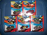 Hot Wheels Set of 5 MOTO Track Stars/ Team Red/Moto-Crossed/Badlander/Cycle Crusher/ Atomix
