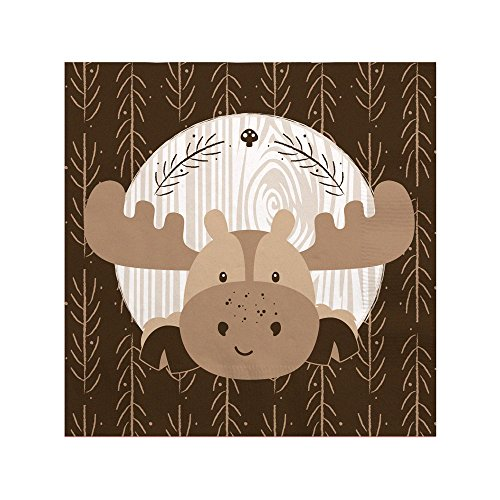Woodland Creatures - Baby Shower or Birthday Party Beverage Napkins (16 Count) ()