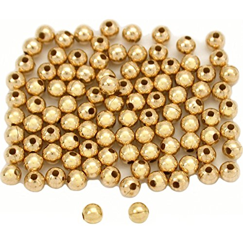 - 100 14K Gold Filled Round Little Beads Smooth 2.5mm