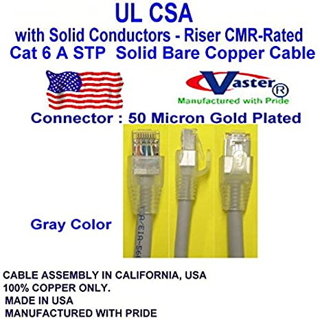 77972-100 Ft STP Cat6 Gigabit Network DSL Ethernet RJ45 Snagless Straight Patch Cable SuperEcable Gray Color