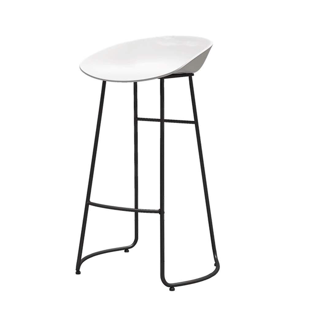 White 75CM Barstools Iron Bar Stool Fashion Bar High Stool Bar Stool Coffee Shop Counter Metal Bar Stool (color   Black, Size   75CM)