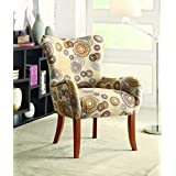 Coaster Transitional Multi-Color Accent Chair with Nailhead Trimming