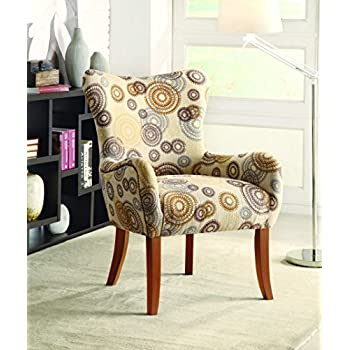 coaster home furnishings modern english roll arm tight wing back swoop accent lounge chair