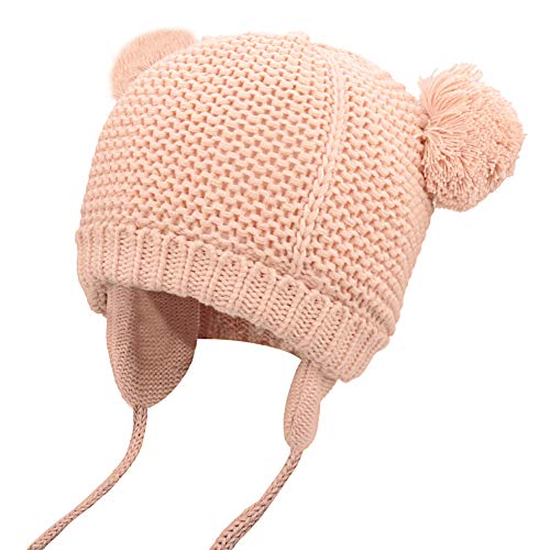 EXTENDAY Baby Toddler Beanie Winter Soft Warm Knit Earflap Kids Hat