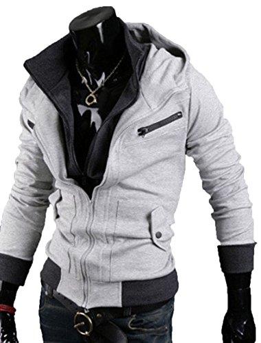 Seal Men's Slim Fit Zipper Closure Hoodie AI-043