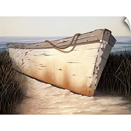 (CANVAS ON DEMAND Karl Soderlund Wall Peel Wall Art Print Entitled White Boat 16