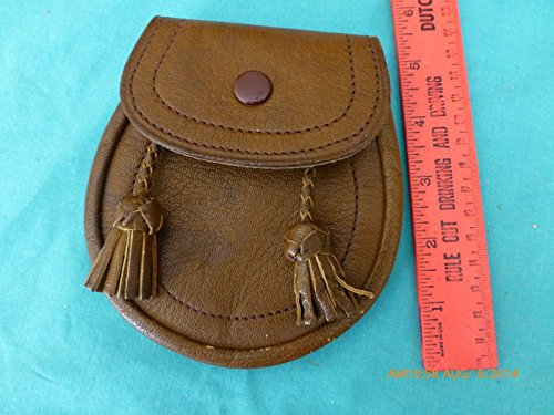 Leather Side pouch Wallet Hanging Pocketbook Purse snap Newey tassel