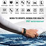 MorePro HRV Fitness Tracker with Heart Rate Blood Oxygen Saturation Monitor SpO2, Waterproof Color Screen Activity Health Trackers with Sleep Tracking Calorie Step Counter Pedometer for Women and Men