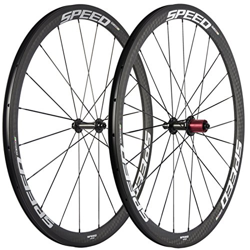 Ibicycle 38mm Clincher Road Carbon Wheelset Basalt Brake Surface Bicycle Wheels With Chosen 1346-5647 Hub ()