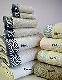 Best sheetsnthings Towel Sets - 6pc Water Weaves Cream Bath Towel Set 100% Review