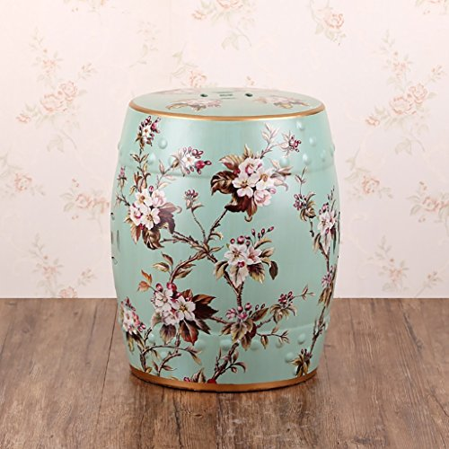 AIDELAI Stool chair New Classical Chinese Style Dressing Stool Changing His Shoes Stool Stool Antique Drum Stool Vintage Snare Drum Stool Children Stool (28 36cm) Saddle Seat ( Color : D ) by AIDELAI