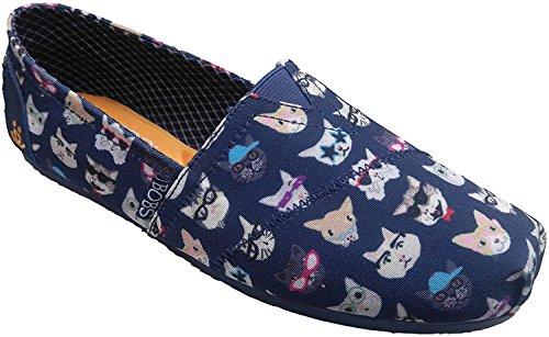 Flat Women's Dream BOBS Kitty Navy Ballet Skechers Plush Bobs Doodle nIq0SA5wP5