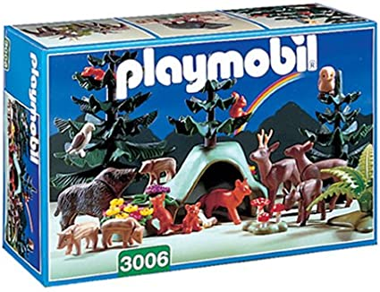 Amazon.com: Playmobil 3006 Forest Animals Deluxe Set Retired ...
