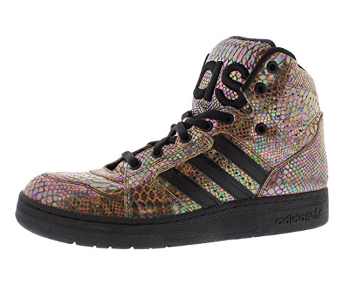 (adidas Men ObyO JS Instinct High Rainbow - Jeremy Scott (Black/runninwhite))