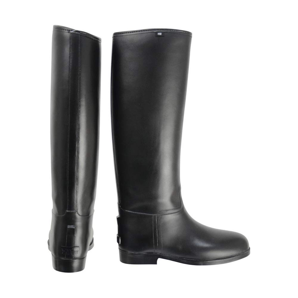 HyLAND Childrens/Kids Long Greenland Waterproof Riding Boots (2 M US Little Kid) (Black)