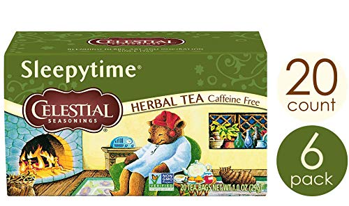 Celestial Seasonings Herbal Tea, Sleepytime, 20 Count, Pack of 6 (The Best Sleepy Time Tea)