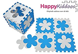Happykiddoos, tappeto da gioco in schiuma, a forma di puzzle,tappeto da gioco in schiuma con puzzle a blocchi, tappeto per bambini,ogni tessera ha una dimensione di 30 cmx 30cm e uno spessore di 1cm S-GW