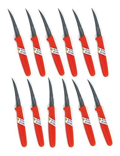 New KIWI CARVING KNIFE Stainless Thai Fruit Vegetable Soap Craft Kitchen Tool 12 pcs by Kiwi