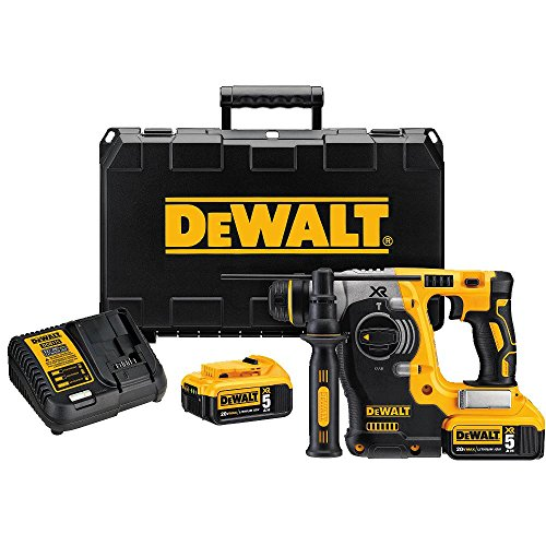 DEWALT-DCH273P2-20V-Max-Brushless-SDS-Rotary-Hammer-with-5-Ah-Batteries