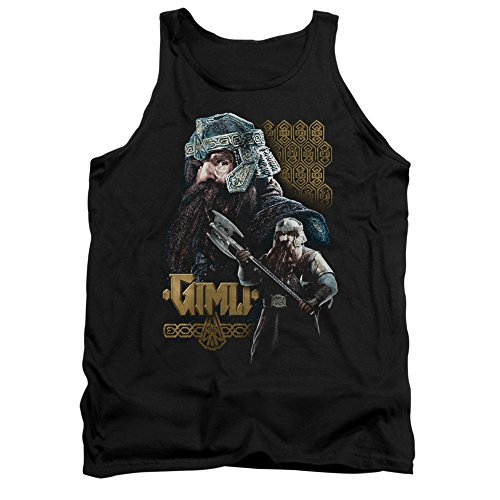 The Lord of The Rings Movie Gimli Stare with Axe Adult Tank Top Shirt