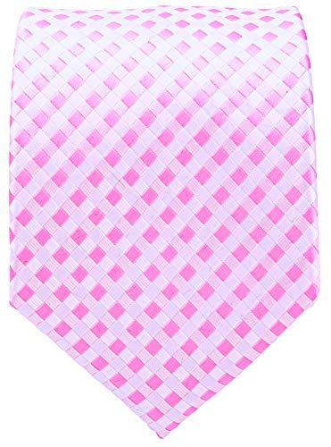 Checkerboard Ties for Men - Woven Necktie - Pink
